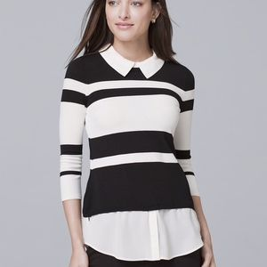 White House Black Market Stripe Twofer Sweater